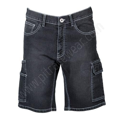 Trouser Jeans short black